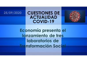 Economía presenta el lanzamiento de tres laboratorios de Transformación Social