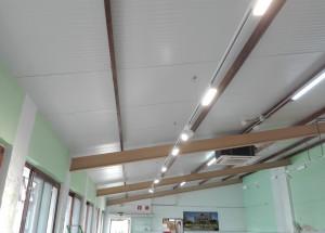 Obras de mejora de luminaria en el Mercado de Abastos