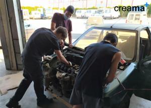 Creama Benissa reanuda las Prácticas del curso de Operaciones auxiliares de mantenimiento en electromecánica de vehículos.