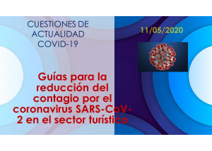 Guías para la reducción del contagio por el coronavirus SARS-CoV-2 en el sector turístico
