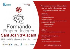 FORMANDO EMPRENDEDORES SANT JOAN D'ALACANT 2018