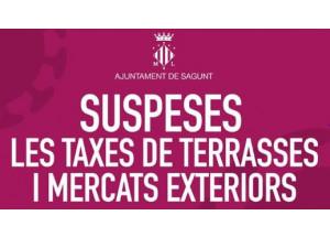SUSPENSIÓ DE TAXES EN TERRASSES I MERCATS EXTERIORS