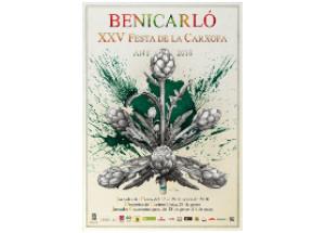 Benicarló.Manuel Boix il·lustra el cartell anunciador de la XXV Festa de la Carxofa