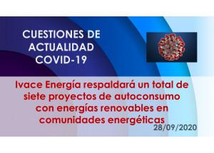 Ivace Energía respaldará un total de siete proyectos de autoconsumo con energías renovables en comunidades energéticas