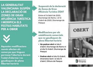 La Generalitat Valenciana modifica els festius habilitats per a obrir