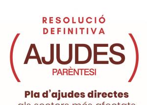 Resolución definitiva ayudas PARENTESIS - PLAN RESISTIR Benissa.