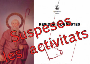 Suspendidas las actividades por Sant Antoni
