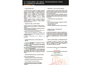III CONCURS D'IDEES TECNOLÒGIQUES PER Al COMERÇ MINORISTA