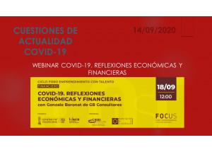 WEBINAR COVID-19. REFLEXIONS ECONÒMIQUES I FINANCERES