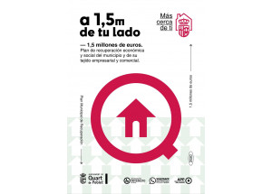 QUART DE POBLET DESTINA UN MILLÓN Y MEDIO DE EUROS AL PLAN DE RECUPERACIÓN ECONÓMICA Y SOCIAL DEL MUNICIPIO.