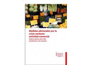 Medidas adicionales por la crisis sanitaria: actividad comercial Estado de alarma otoño 2020