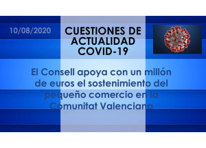 El Consell apoya con un millón de euros el sostenimiento del pequeño comercio en la Comunitat Valenciana