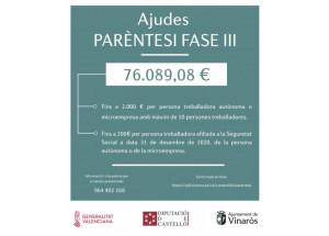 El Ajuntament abre el plazo para las Ayudas Paréntesis Fase III y anuncia las subvenciones Vinaròs Reactiva Fase II