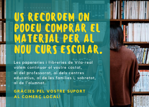 Comprem al poble, fem poble! Apoyo a las papelerías y librerías para el nuevo curso escolar
