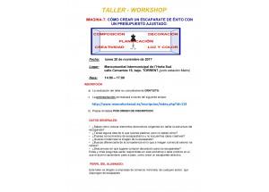 TALLER WORKSHOP: COM CREAR UN APARADOR D'ÈXIT AMB UN PRESSUPOST AJUSTAT