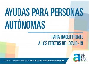 El Ajuntament d'Alfafar aprueba las ayudas a las personas autónomas para paliar los efectos del COVID-19