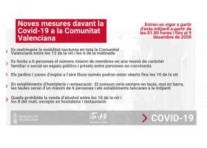 NOVES MESURES POR COMBATRE LA COVID-19