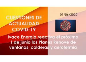 Ivace Energía reactiva el próximo 1 de junio los Planes Renove de ventanas, calderas y aerotermia