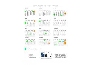 CALENDARIO COMERCIAL PROVISIONAL 2018