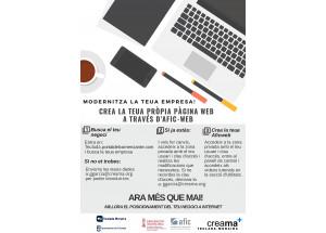 Creama Teulada-Moraira informa de la puesta en marcha del proyecto AFICWEB para comerciantes y profesionales.