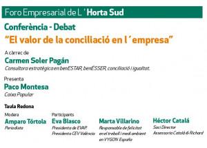 El Fòrum Empresarial de l'Horta Sud debatrà a Alfafar sobre conciliació en l'empresa