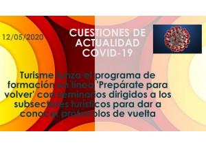 Turisme lanza el programa de formación en línea 'Prepárate para volver' con seminarios dirigidos a los subsectores turísticos para dar a conocer protocolos de vuelta
