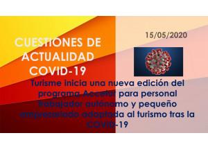 Turisme inicia una nueva edición del programa Accetur para personal trabajador autónomo y pequeño empresariado adaptada al turismo tras la COVID-19