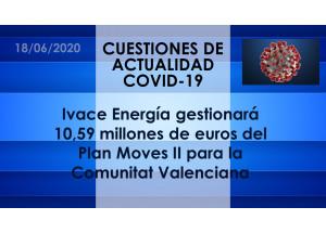 Ivace Energía gestionará 10,59 millones de euros del Plan Moves II para la Comunitat Valenciana
