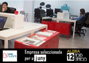 Alzira: 12 mesos - 12 empreses: Empresa de Juny EFECTO COWORK