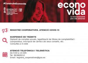 Economía adopta medidas de apoyo a las cooperativas de la Comunitat ante el COVID-19