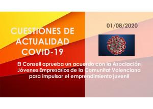El Consell aprueba un acuerdo con la Asociación Jóvenes Empresarios de la Comunitat Valenciana para impulsar el emprendimiento juvenil