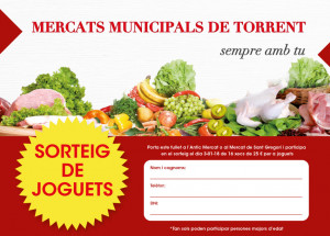 SORTEIG DE JOGUETS ALS MERCATS MUNICIPALS