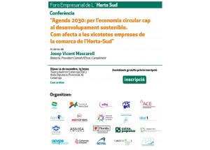 FORO EMPRESARIAL HORTA SUD - Conferencia Agenda 2030: