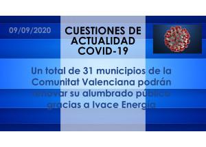 Un total de 31 municipios de la Comunitat Valenciana podrán renovar su alumbrado público gracias a Ivace Energía