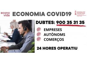 COVID-19 Teléfono dudas para empresas, autónomos y comercios
