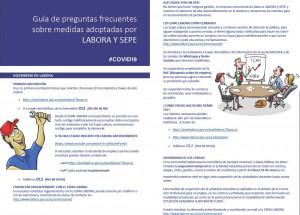 Guía de preguntas frecuentes sobre medidas adoptadas por LABORA y SEPE - COVID-19