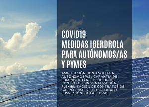 COVID19 MEDIDAS IBERDROLA PARA AUTÓNOMOS/AS Y PYMES