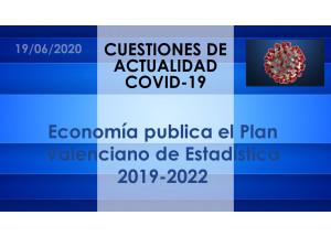 Economía publica el Plan Valenciano de Estadística 2019-2022