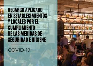 Nota sobre els recàrrecs aplicats en establiments o locals pel compliment de les mesures d'higiene i seguretat establertes per la COVID-19