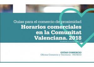 GUÍA SOBRE HORARIOS COMERCIALES EN LA COMUNITAT VALENCIANA 2018