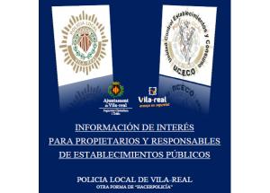 INFORMACIÓN DE INTERÉS PARA PROPIETARIOS Y RESPONSABLES DE ESTABLECIMIENTOS PÚBLICOS