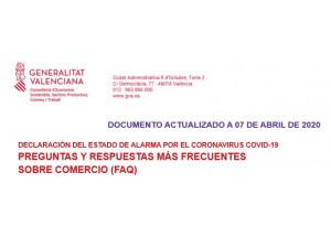 PREGUNTAS  Y RESPUESTAS MÁS FRECUENTES SOBRE COMERCIO (FAQ).Actualizado 7/04/2020