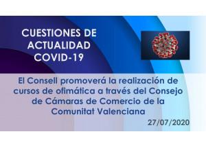 El Consell promoverá la realización de cursos de ofimática a través del Consejo de Cámaras de Comercio de la Comunitat Valenciana