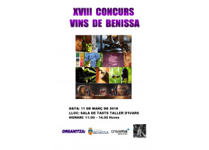 Abierta la inscripción para la XVIII edición del concurso de vinos artesanales de Benissa