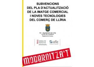 Subvencions del pla d'actualització de la imatge comercial i noves tecnologies del comerç de Llíria 2016