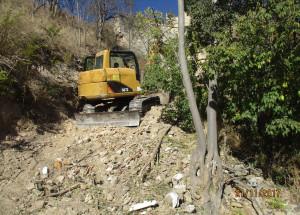 Comencen les obres de reconstrucció del mur de contenció de la carretera Molinar