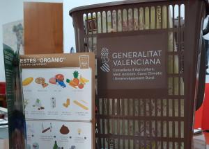 Recta final para la colocación del contenedor de residuos orgánicos