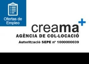 Si buscas trabajo en el siguiente enlace puedes consultar las ofertas de empleo de CREAMA