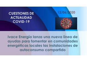 Ivace Energía lanza una nueva línea de ayudas para fomentar en comunidades energéticas locales las instalaciones de autoconsumo compartido