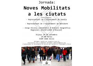 L'Ajuntament d'Alcoi organitza una jornada per a parlar de mobilitat en els centres de les ciutats